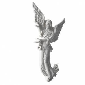 Angelo 26 cm rilievo marmo per applicazioni s2