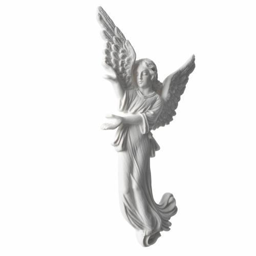 Angelo 26 cm rilievo marmo per applicazioni 2