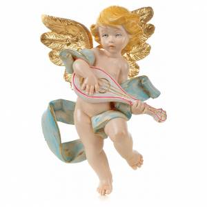 Angeli: Angelo con mandolino Fontanini cm 17 tipo porcellana
