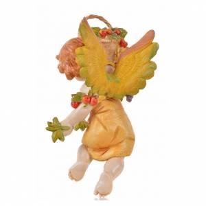 Angeli: Angelo dell'Autunno con uva Fontanini cm 17 t/por.