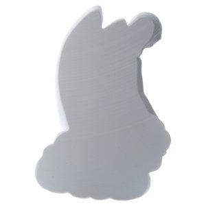 Angelo su nuvola 24 cm marmo rilievo s3
