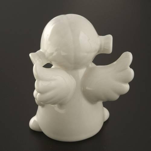 Angels in white ceramic, 4 pieces 11cm s7