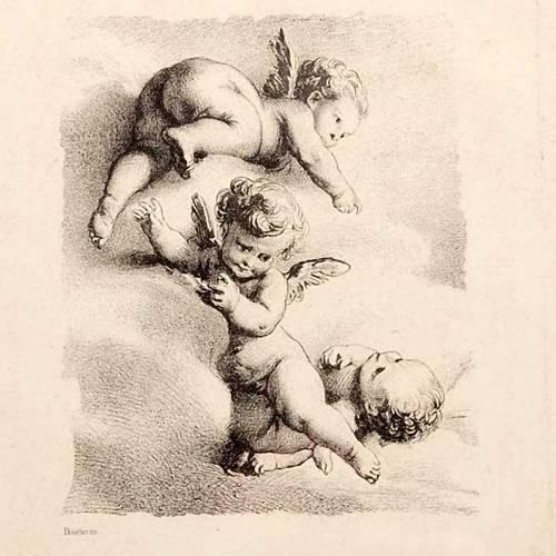 Angels on a cloud, Florentine print s2