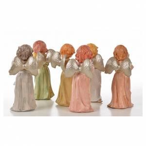 Anges debout 15 cm Fontanini 6 pcs type porcelaine s2