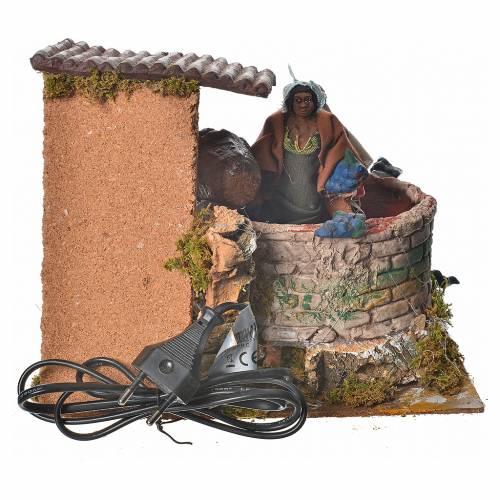 Animated nativity figurine, grape harvest scene 12cm s4