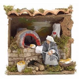 Animated Nativity Scenes: Animated nativity scene figurine, 6 cm moving baker