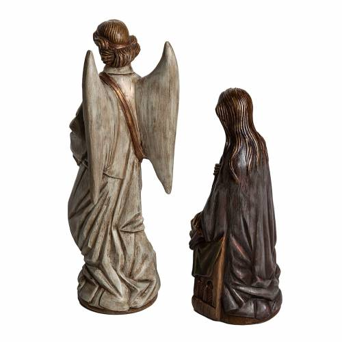 Annunciation statue in stone 29 cm, Bethlehem Nuns s3