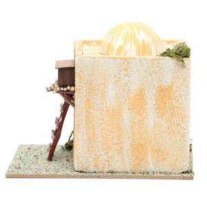 Arabian style house with ladder measuring 22x13x17cm s3