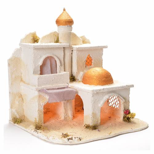 Arabian village, Neapolitan Nativity 43x43x40cm s2