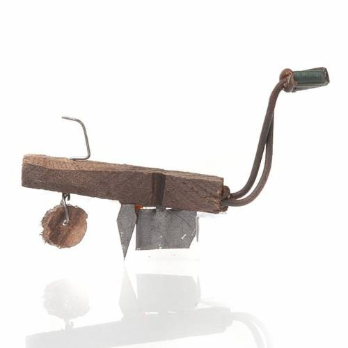 Arado de madera y metal para  el pesebre 1