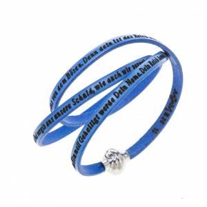 Armbänder AMEN: Armband AMEN Vater Unser Deutsch blau