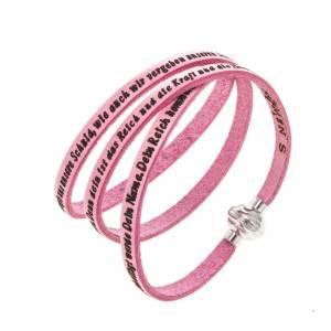 Armbänder AMEN: Armband AMEN Vater Unser Deutsch rosa