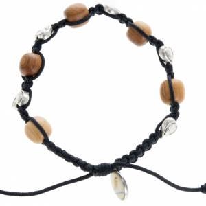 Medjugorje Armbänder: Armband Medjugorje Herzen und Olivenholz
