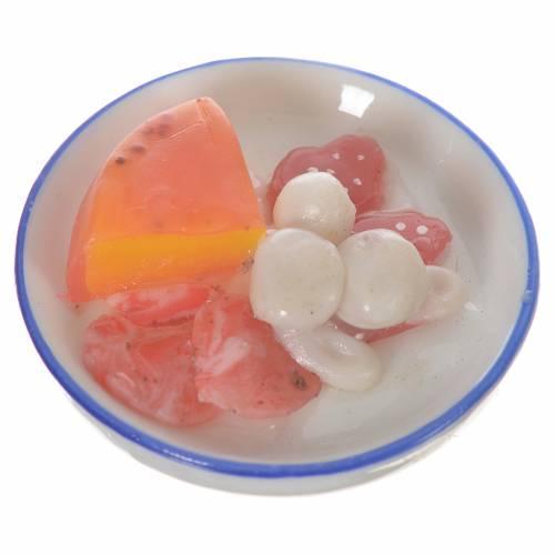 Assiette de charcuterie et fromage en cire pour santons 20-24 cm s1