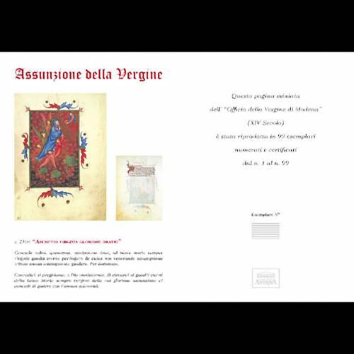 Asunción de la Virgen munuscrito miniado s5
