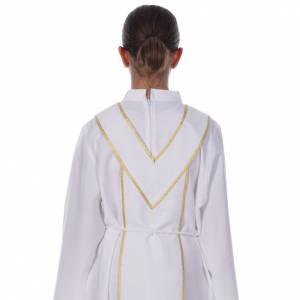 Aube communion scapulaire brodé s5