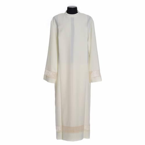 Aube ivoire ruban dentelle 100% polyester s1