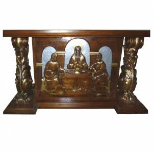Autel en bois taillé main 180x80x90 cm s1