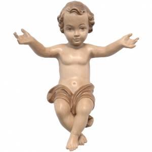 Baby Jesus made of Valgardena wood, multi-patinated s1