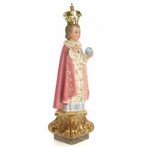 Baby Jesus of Prague statue 60cm, wood paste, elegant decoration s4