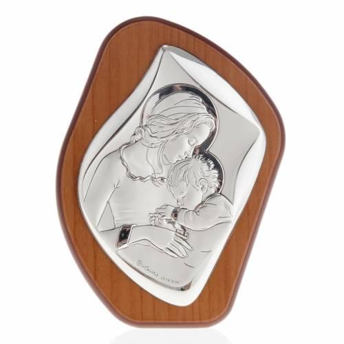 Bajorrelieve plata madre con niño dormido aureola s1