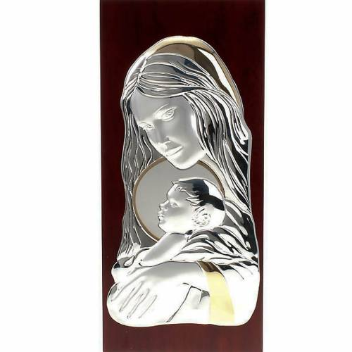 Bajorrelieve plata María con niño - rectangular s1