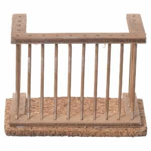 Balcon crèche napolitaine 9x7x4 cm s1