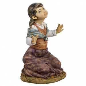 Statue per presepi: Bambina in ginocchio 125 cm Fontanini