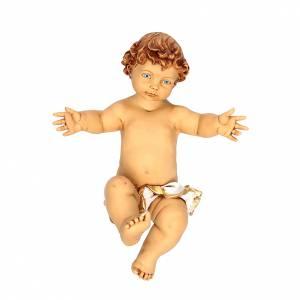 Statue per presepi: Bambinello 125 cm con culla resina Fontanini
