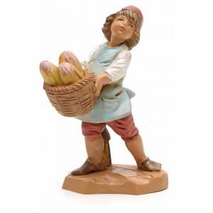 Statue per presepi: Bambino con cesta di pane 12 cm