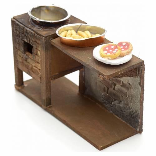 Banc avec friteuse crèche Napolitaine 12 cm s2