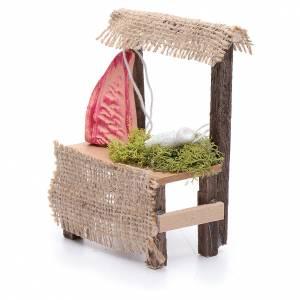 Banchetto in legno 10x5x5 cm carne accessorio presepe s2