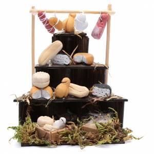 Presepe Napoletano: Banco formaggi presepe napoletano 9 cm