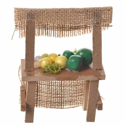 Banco frutta presepe 10,5x7x4,5 cm s2