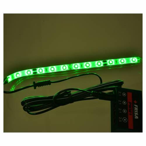 Bande 12 micro-leds pour Frisalight vert 0,8x16 cm s2