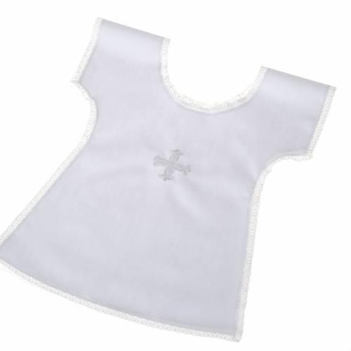 Baptismal full bib white cross s1