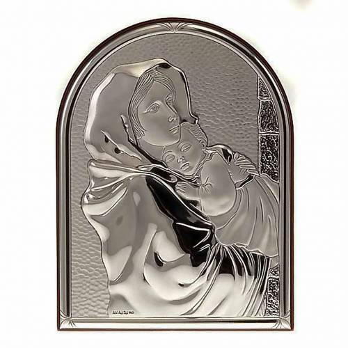 Bas relief argent vierge de Ferruzzi ovale, base étroite s1