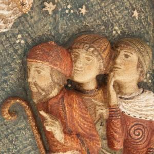 Bas relief bergers Crèche d'Autun bois peint s3
