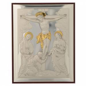 Bas-relief, Crucifixion, silver and gold s1