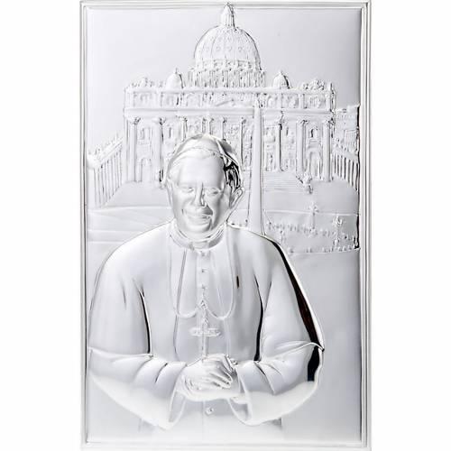 Bas relief en argent, Jean Paul II, S.Pierre s1