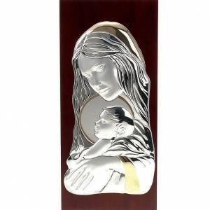 Bas relief or et argent,Marie avec enfant s1
