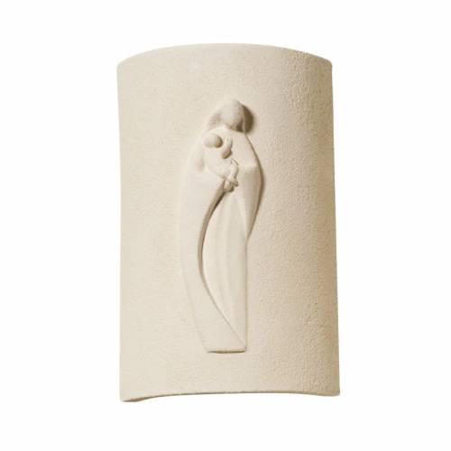 Bas relief religieux Vierge à l'enfant 17.5 cm s1