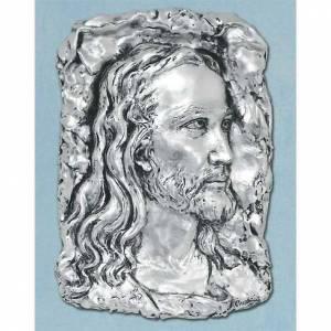 Bas-relief visage de Chris métal argenté s1