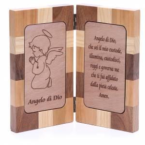 Bassorilievo Angelo di Dio tre tipi legno s1