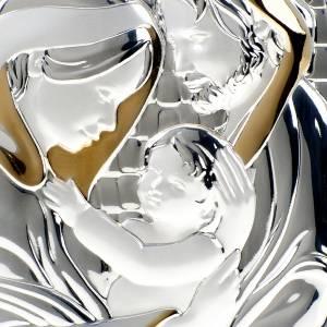 Bassorilievo bilaminato oro argento Sacra Famiglia s2