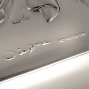Bassorilievo bilaminato argento Ultima Cena Leonardo s4