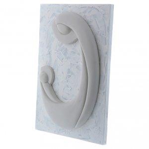 Bassorilievo Pinton porcellana bianca Madonna Bambino pannello bianco 27X19 cm s2
