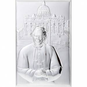 Silber Basreliefs: Bassrelief Silber Johannes Paul II Basilika San Pietro