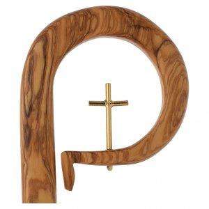 Bastone pastorale legno olivo stagionato di Assisi s2