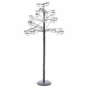 Armleuchter: Baum-Kerzenhalter mit transparenten Lämpchenhaltern